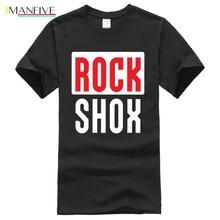 цена на Rockshox Rock Shox Shock Suspension Mountain Mtb T Shirt Round Neck Clothes Short  Casual  Cotton