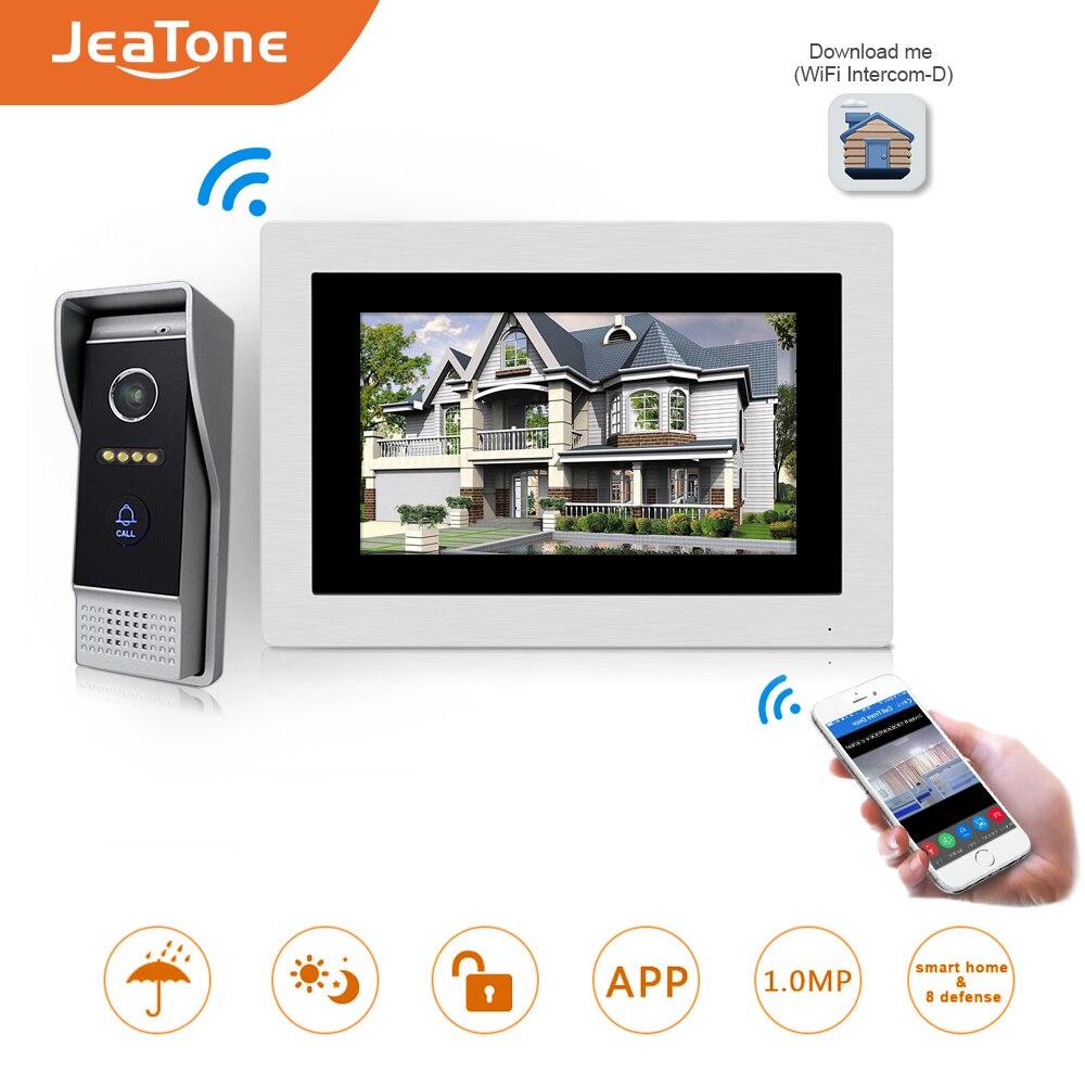 7 polegada wi fi ip vídeo porteiro telefone da porta sem fio campainha porta alto-falante sistema de controle acesso tela toque detecção movimento