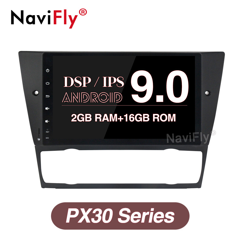 NaviFly IPS Screen DSP Android 9.0 Car Multimedia Player for BMW 3 Series E90 E91 E92 E93 Stereo Autoradio HD GPS Navigation BT image