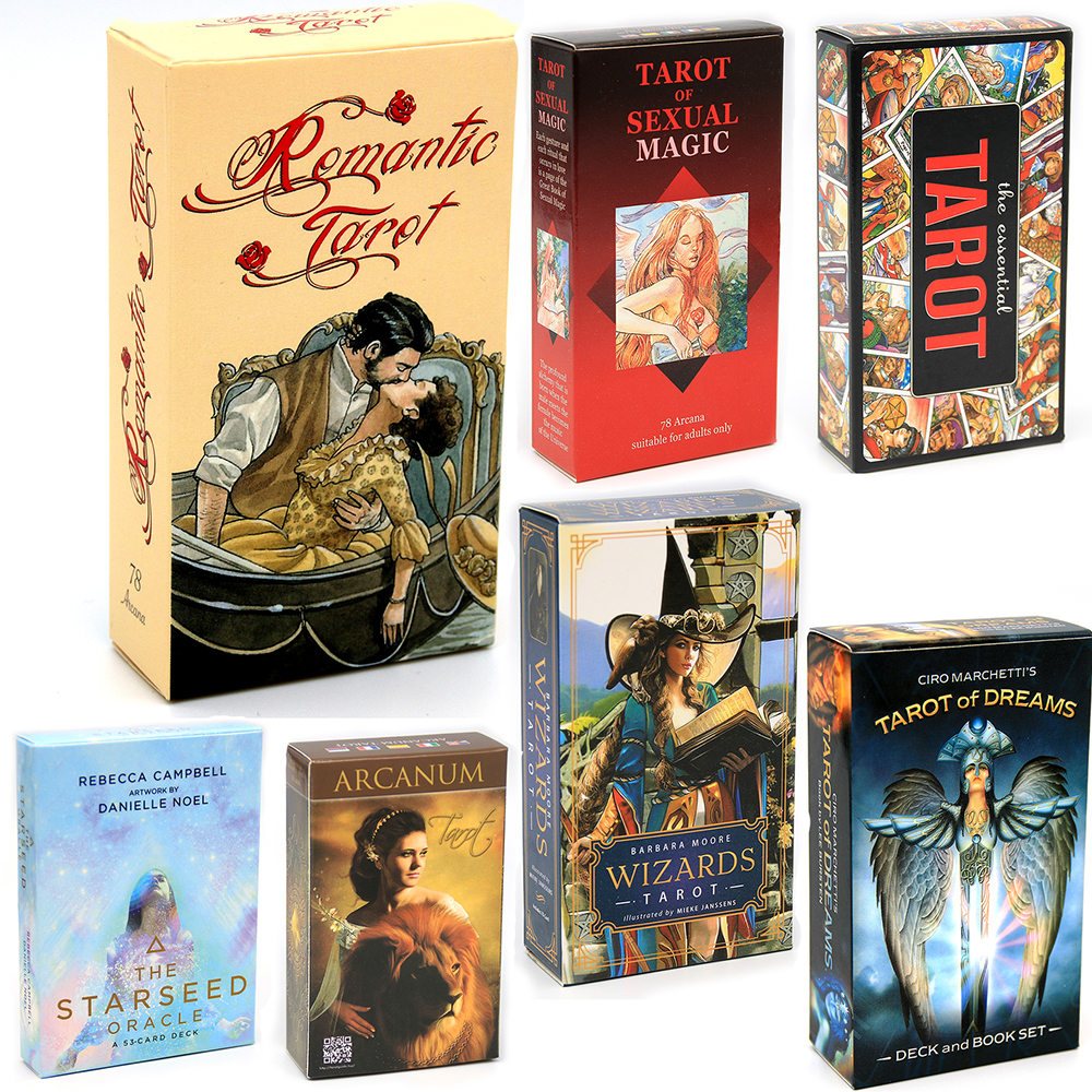 Romantic Tarot Cards by Lo Scarabeo Esoteric Fortune Telling Loscarabeo five languages: English Spanish French Italian German