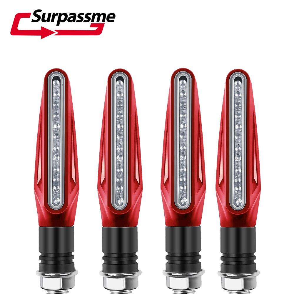 Señales de giro para motocicleta Ducati Monster S4R 695 1100, luces LED intermitentes, indicador intermitente, señal de parada, accesorios para moto