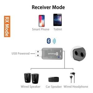 Image 3 - DISOUR 5.0 USB الصوت جهاز إرسال بلوتوث استقبال للتلفزيون سيارة 3.5 مللي متر AUX ستيريو Musci 2 في 1 لاسلكية محول Aptx USB دونغل