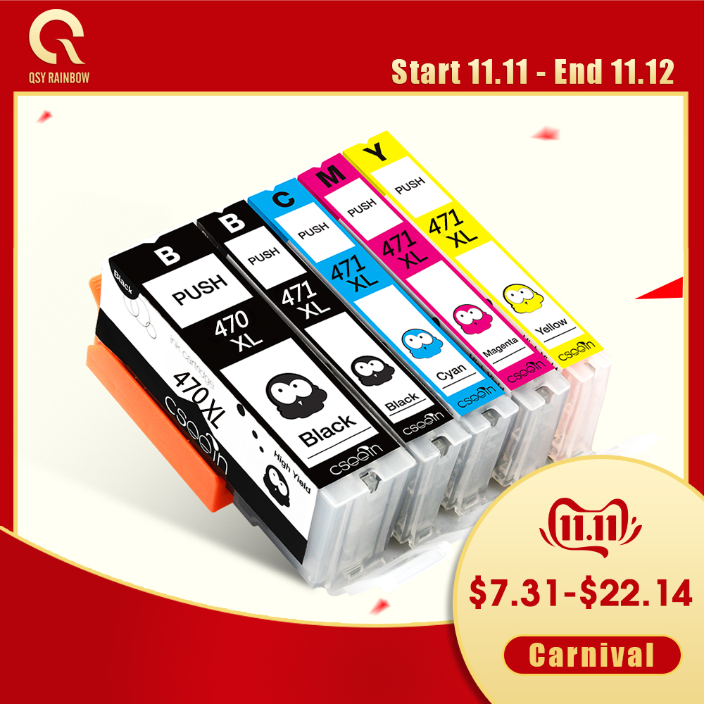 Full package New <font><b>Canon</b></font> PGI <font><b>470</b></font> CLI <font><b>471</b></font> Compatible ink cartridges for <font><b>CANON</b></font> PIXMA MG 5740 8640 / TS 5040 6040 inkjet Printer image