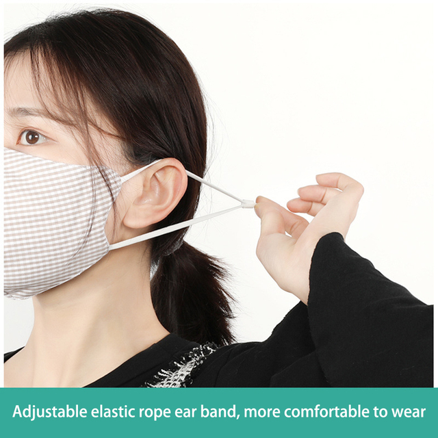 1PC Cotton Women Anti Haze Anti-dust Mask PM2.5 Washable Mouth Mask  Windproof Face Muffle Bacteria Flu Fabric Cloth Respirator 3