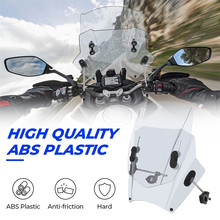 Motorcycle Windscreen Windshield Universal Motorbikes Deflector Adjustable For MT09 MT07 R1 R3 R1200GS F800GS Z650 Z750 Z800