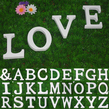 1pcs 8CM White English 27 Letters Ornaments Wood Wooden Letter Alphabet DIY Personality Wedding Party Decoration