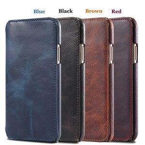 Image 4 - 수제 전화 커버 아이폰 11 프로 최대 12 6S 7 8 플러스 지갑 플립 케이스 아이폰 XS 맥스 X xr에 대한 고급 정품 가죽 케이스