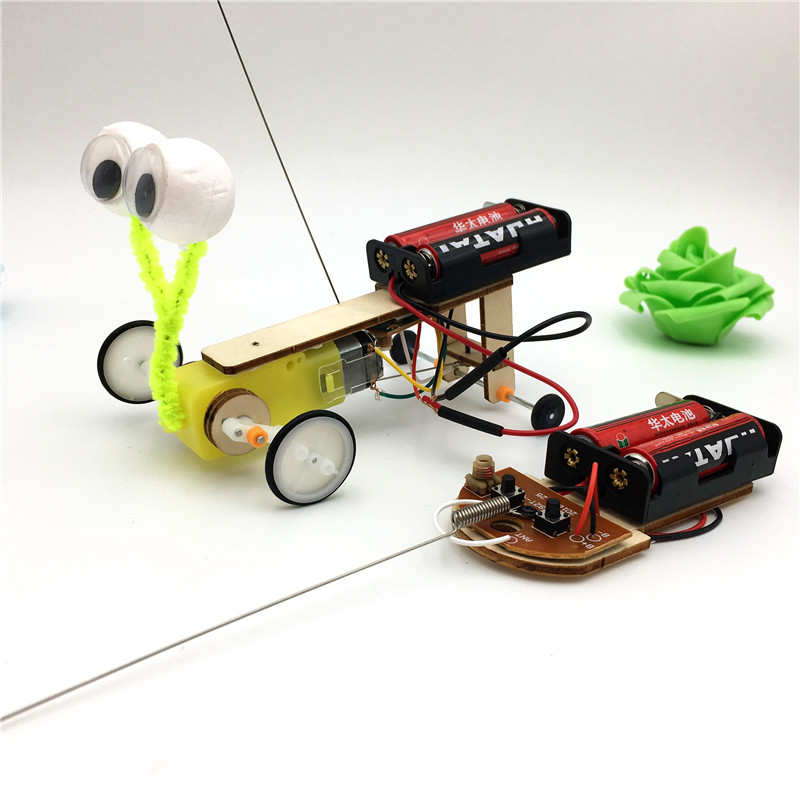 Happyxuan Fun DIY Kids Science Experiment Toy RC Robot Reptile Model  Construction Kit Invention STEM Education School Project