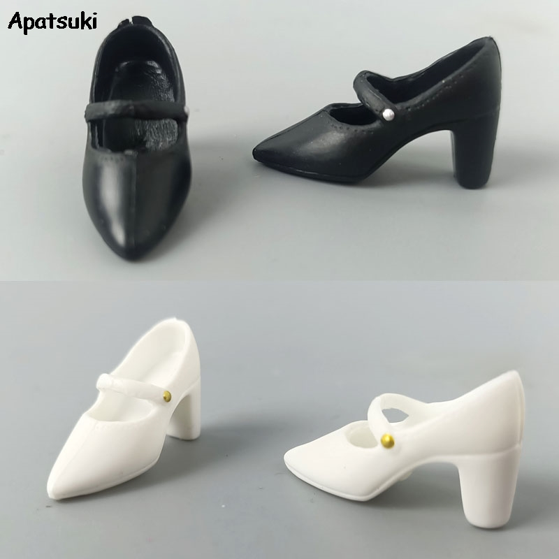 Black White Doll Shoes For 11.5