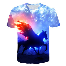 Summer Fashion Unisex Unicorn T-shirt Children Boys Short Sleeves White Tees Baby Kids 3D Tops For Girls Dream beautiful Clothes 1 12y unisex kids t shirt masters of the universe he man tshirt for children fashion t shirt boys girls clothes summer tops tees