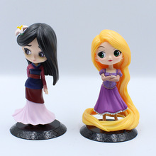 2019 11cm Q Posket Princess Figure Toys Mulan Action Model Collection PVC B862
