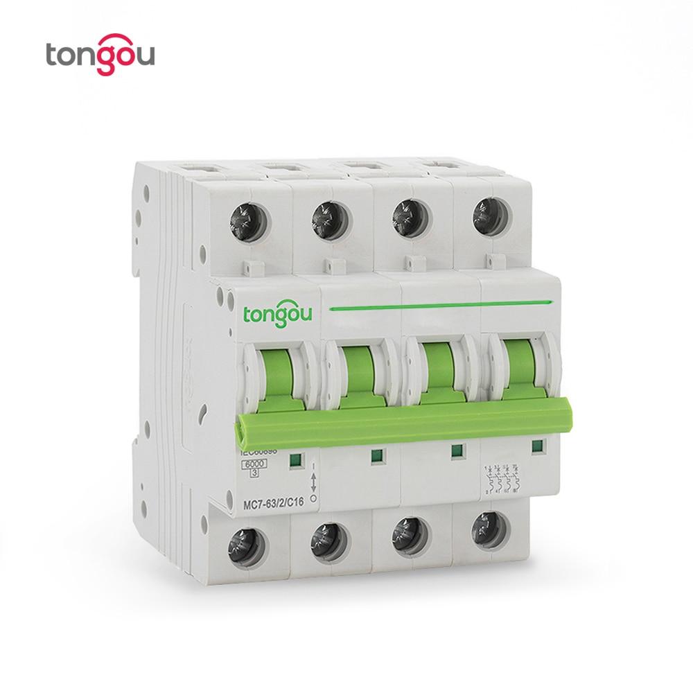 Image 4 - 3P 4P 6A 10A 16A 20A 25A 32A 40A 50A 63A Miniature Circuit Breaker 6KA 110V/220V/400V 50/60HZ MCB TOMC7 63-in Circuit Breakers from Home Improvement