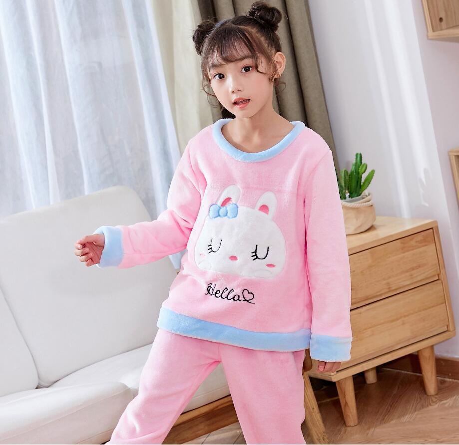 Новинка года; зимняя детская флисовая Пижама; теплая фланелевая одежда для сна; домашняя одежда для девочек из кораллового флиса; детская пижама; домашняя одежда; Пижама для мальчиков - Цвет: model 4