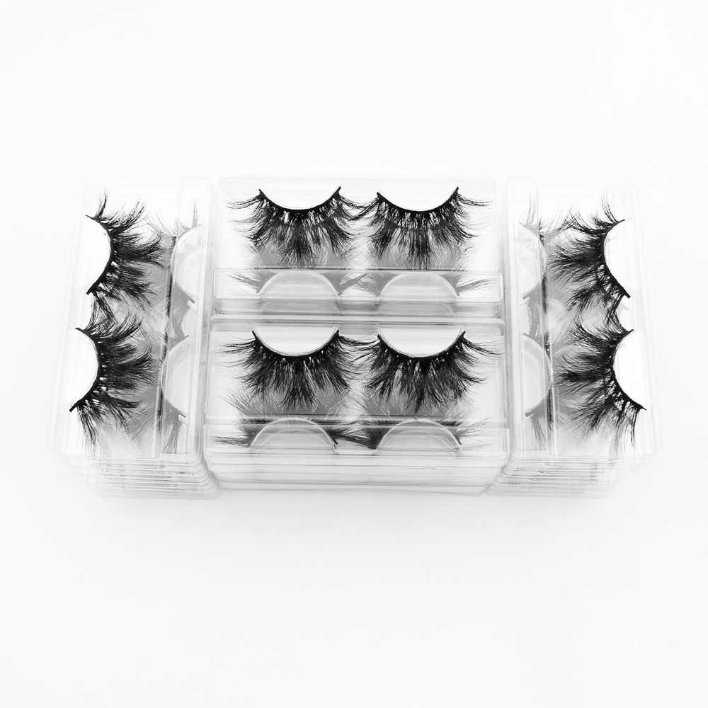 40 пар ресниц Visofree 3D норковые ресницы с лотком без коробки 25 мм ресницы норковые ресницы драматический объем Толстые Накладные ресницы E89
