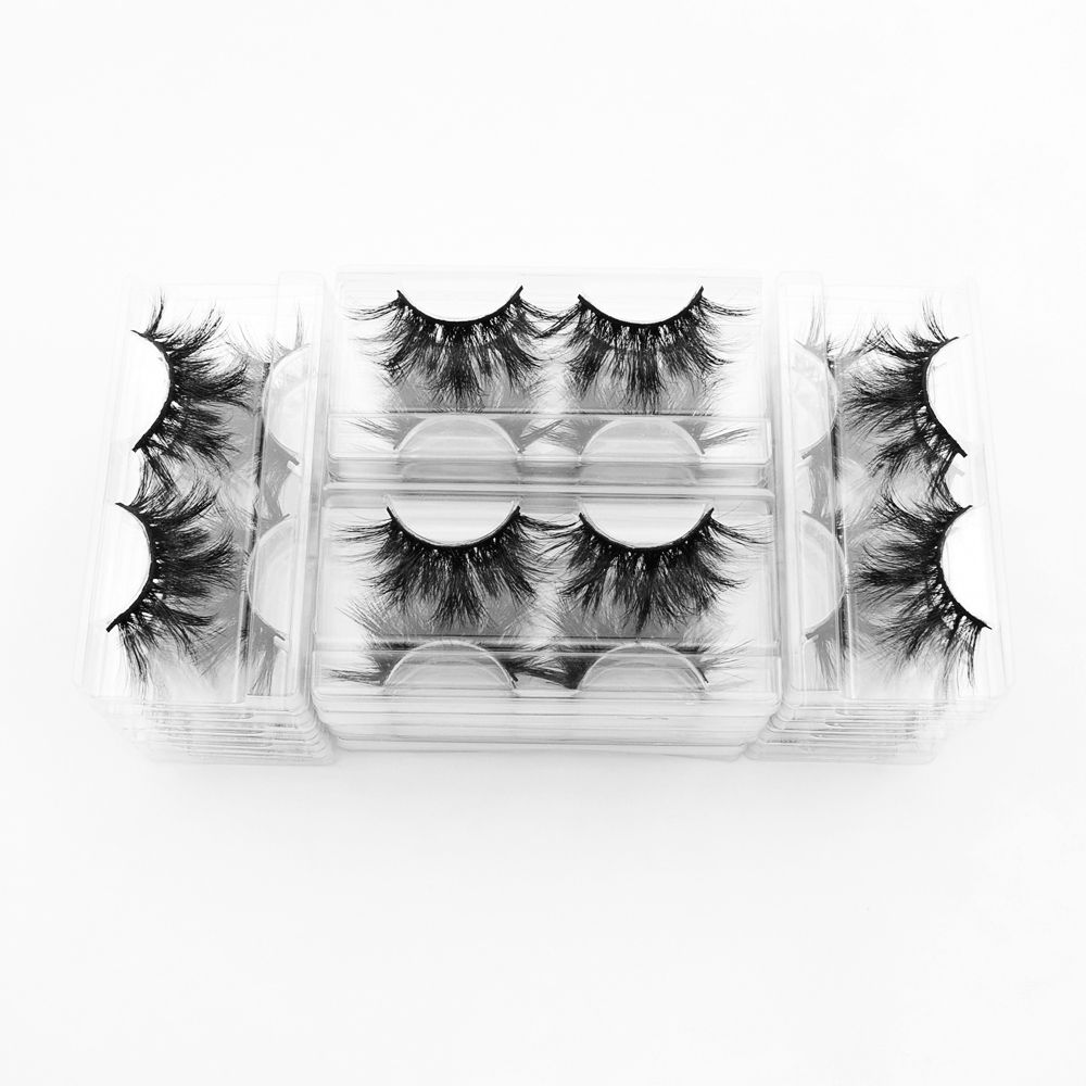 Image 3 - 40pairs Visofree Eyelashes 3D Mink Lashes with Tray No Box 25MM Lashes Mink Eyelashes Dramatic Volume Thick False Eyelashes E89Eyelashes Set   -