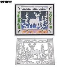 Cute Deer Metal Cutting Dies Stencil DIY Scrapbooking Album Stamp Paper Card Embossing Craft Decor