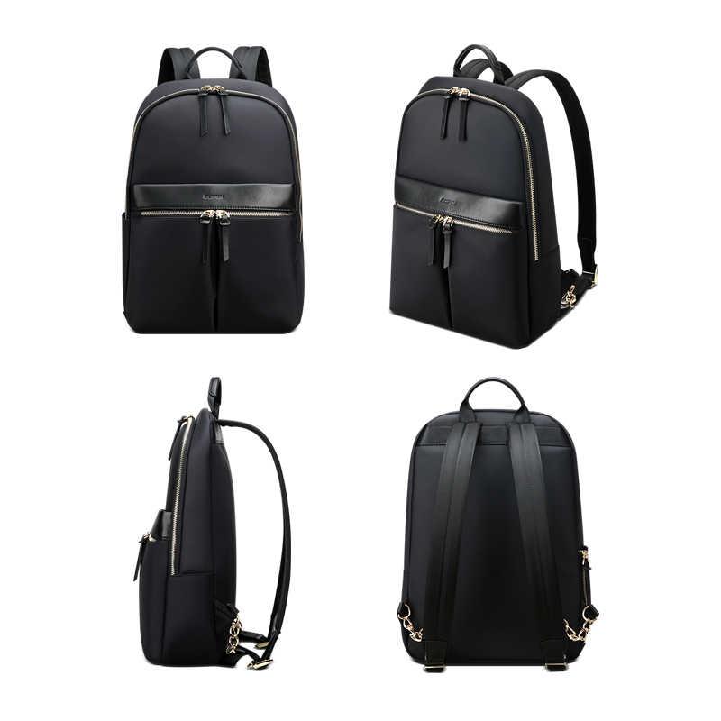 BOPAI-sac à dos étanche pour femmes, sacoche en soie, sacoche d'ordinateur portable, sacoche de voyage de grande capacité d'affaires mince pour dames