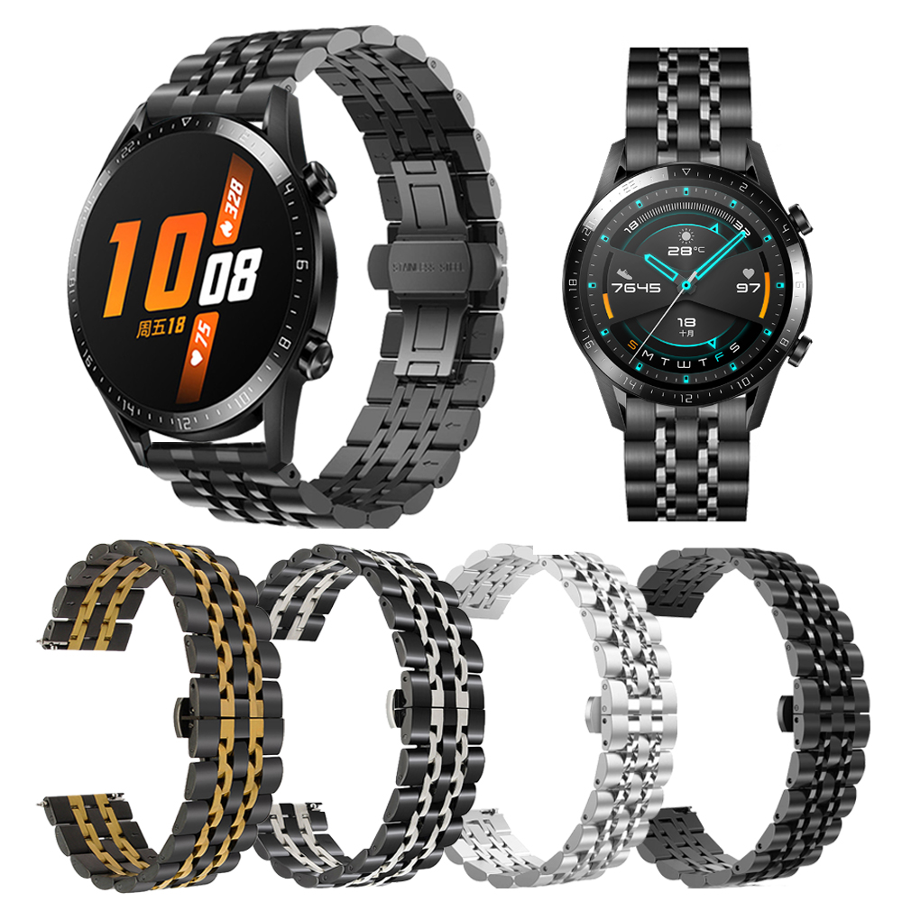 Metal Stainless Steel Wrist Strap for HUAWEI WATCH GT 2   GT Active 46mm Band WristBand for HONOR Magic Bracelet Watchband