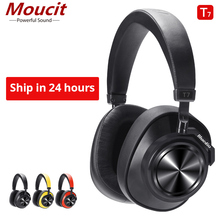 Teamyo T7 Bluetooth Headphones User-defined Active Noise Cancelling Wireless Headset for phones and music with face recognition