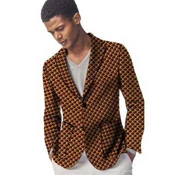 Ankara Style Blazers Men Suit Jacket Dashiki Patterns Men's Coats Party Wear Traditional African Clothing Made To Measure gucci made to measure