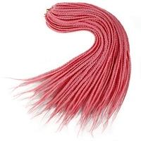 YXCHERISHAIR 22 inch Box Braids Hair Extensions Ombre Long Synthetic Box Braid Crochet Hair Weave Red Gray Cyan hair