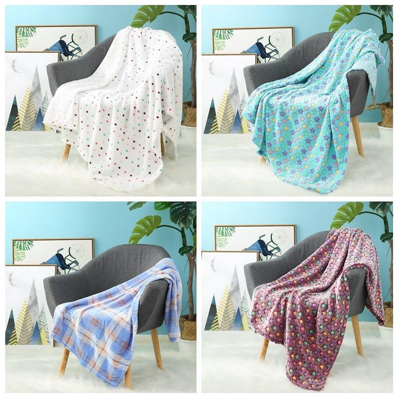 I-baby Large Kids Blanket 3D Print Soft Baby Flannel Luxury Newborn Stroller Blanket Infant Wrap Cozy Toddler Blanket 120x150cm