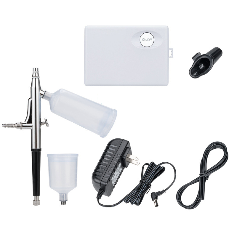 HOT! Dual Action Airbrush Air Compressor Kit Spraying for Art Painting Tattoo Manicure Craft Cake Spray Model Air Brush Nail US   - title=