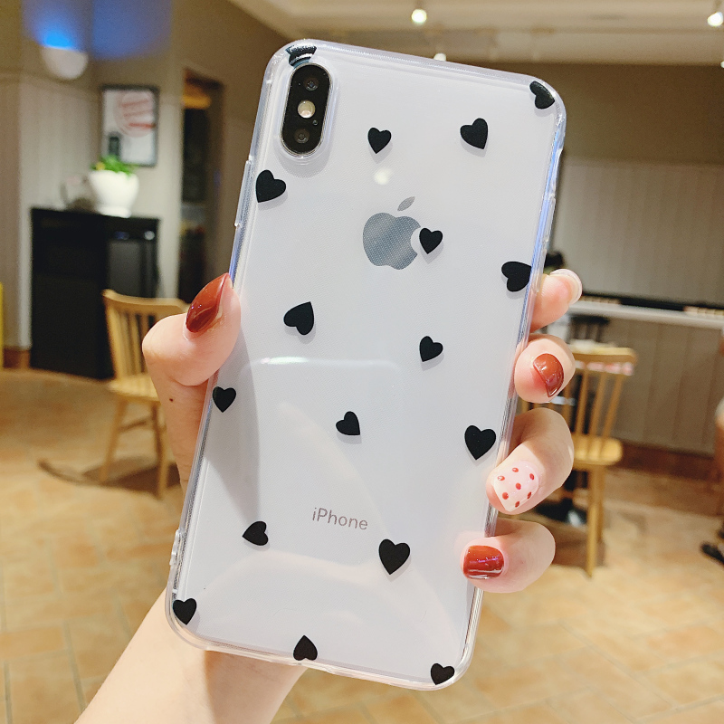 Lovebay Phone Case For iPhone 11 6 6s 7 8 Plus X XR 11Pro XS Max Cute Cartoon Wave Point Transparent Soft TPU For iPhone X Cover