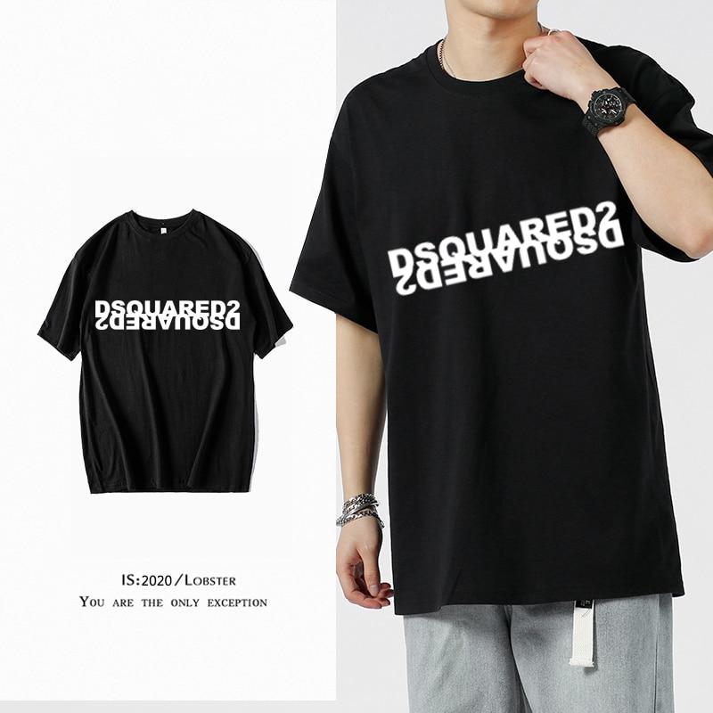 Новинка 2021, модная футболка с принтом D2, мужские свитшоты, пуловер, спортивная одежда, женские хлопковые повседневные футболки в стиле хип-х...