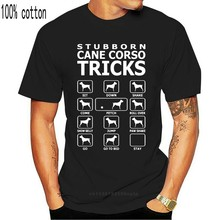 Camiseta de tamanho grande 3xl 4xl 5xl masculino hiphop parte superior personalizado cane cane corso cão truques engraçado dos homens t camisa