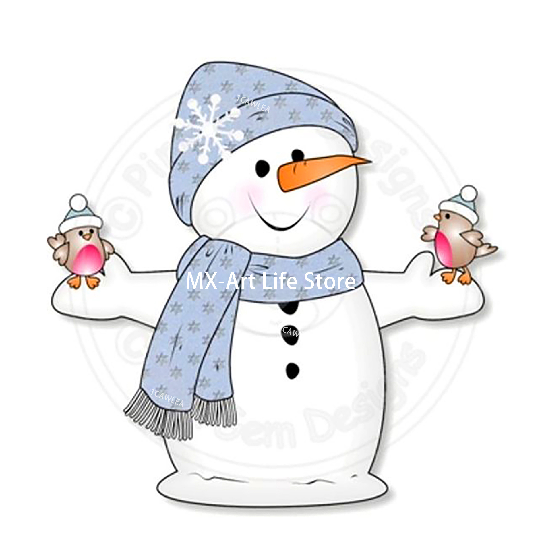 2020 Christmas Snowman And Bird Cutting Dies Baby Doll Stencil For DIY Scrapbooking Craft Cards Decoration