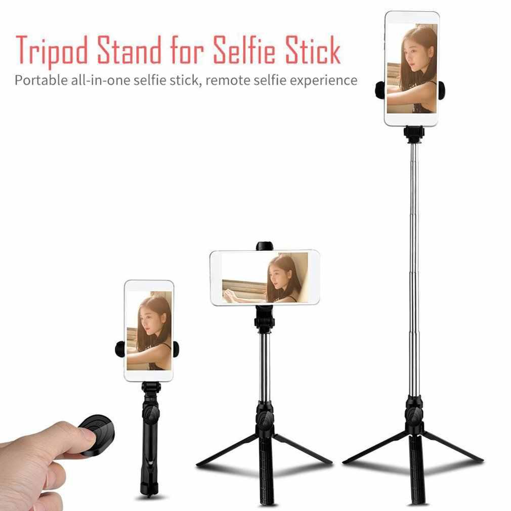 Fotografi Handheld Tripod Selfie Stick Nirkabel Kontrol Nirkabel Shutter Lipat Self Timer Rod