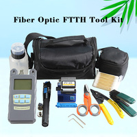OUTESET Faser Ftth Tool Kit mit FC-6S Fiber Cleaver und Optische Power Meter 5km Visual Fault Locator 1mw Draht stripper