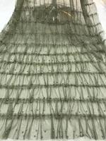 5 yards 3D beaded ruffle Fabric,haute couture dress mesh,Photography Prop Backdrop,Wedding Decors, tulle ruffled baby tutu
