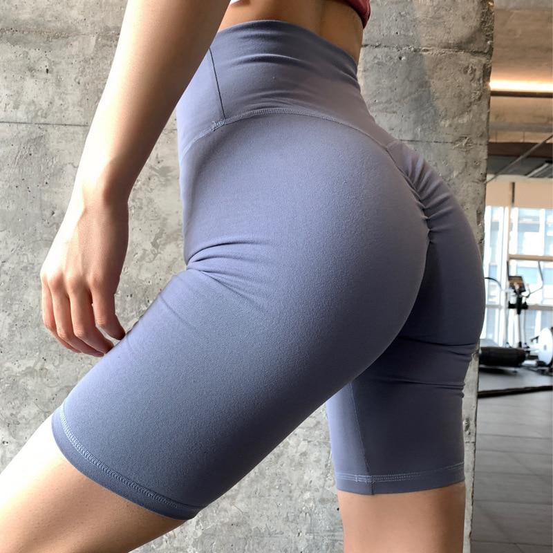 Summer Women Crop Yoga Pant Knee Length Sport Leggings Running Capris High Waist Hip Lifting Cropped Gym Leggings Fitness Tights