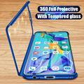 360 Полное покрытие чехол для телефона Huawei Y5P Y7P Y6P 2020 Y9S Y6S Y5 Y6 2017 Y7 2018 Y9 Prime 2019 Nova/5T PC противоударный чехол Coque