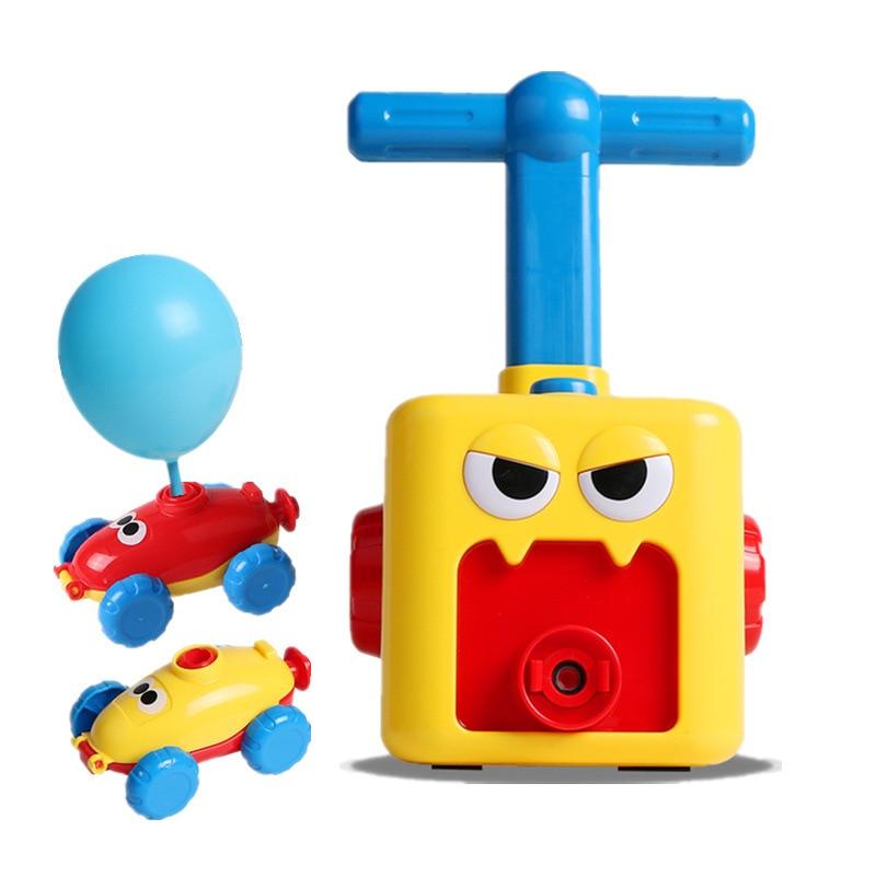 Children Inertial Power Balloon Car Science Experiment Toy Puzzle Fun Inertial Mini Power Car Balloon Pump For Kid Birthday Gift