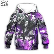 Черно фиолетовые толстовки с аниме персонажами 3d пальто на