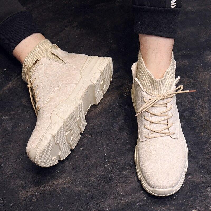 2019 Classic Winter Boots Suede Ankle Snow Boots Warm Fashion Men Shoes New Arrival Plush Insole Snow Botas *5053