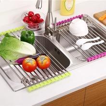 купить Kitchen items storage block tools Sponge scouring pad cup fruit dish plate drainer holder rack kitchenware accessories organizer дешево