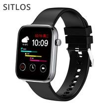 Sitlos p15 relógio inteligente das mulheres dos homens 1.69 Polegada tela de toque completa ip67 à prova dip67 água smartwatch 2021 para ios android xiaomi telefone