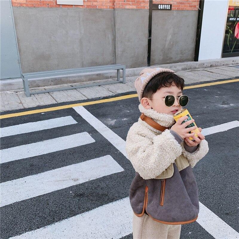 2 3 4 5 6 ans enfant en bas âge garçons vestes épaissir laine d'agneau manteaux d'hiver pour garçons enfants vêtements enfants garçons vêtements de neige nouveauté