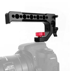 Image 5 - BGNing الألومنيوم مقبض علوي قبضة الحذاء الساخن الباردة الجبن مقبض ل DSLR كاميرا 15 مللي متر تلاعب قضيب المشبك السكك الحديدية تمديد قفص محول تركيب