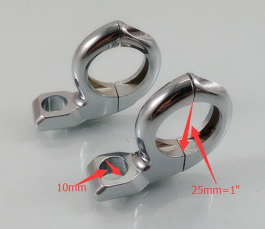 Universal Chrome 7/8''  1'' 22mm  25mm handle bar 10mm 8mm Turn Signal Indicators Clamp Mounts For Harley  Honda Yamaha Suzuki|Handlebar| |  - title=