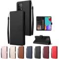 Кожаный чехол для Samsung Galaxy A12 A21S A71 A51 A50 A40 A20e A10 S7 S6 Edge S10e S10 S9 S8 Plus S20 FE S21 Plus