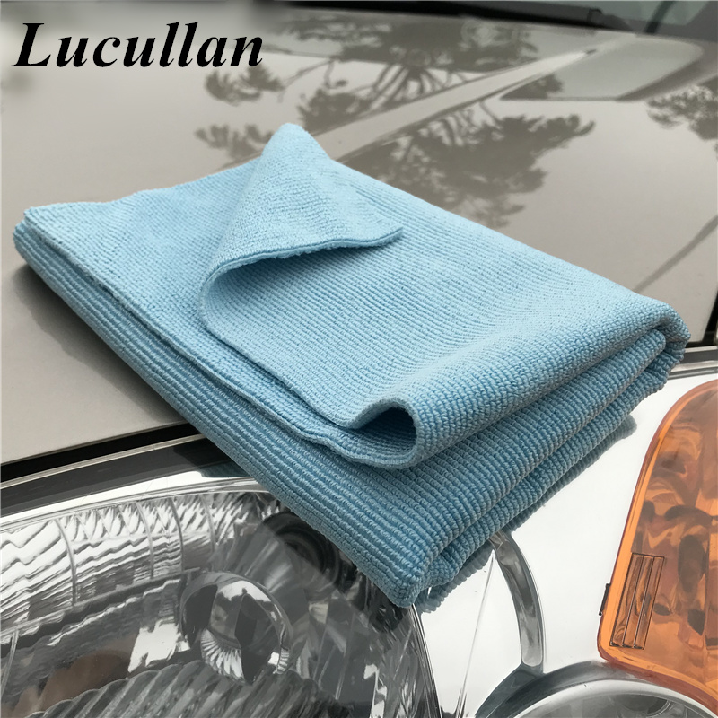 Lucullan Premium Select For Detailers Soft Edgeless Microfiber Pearl Towel For Polishing Wax Removal