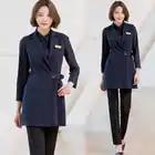 Haute qualité modèle coréen brodeur travail vêtements Salon de beauté esthéticienne vêtements Ol gilet costume manucure costume professionnel