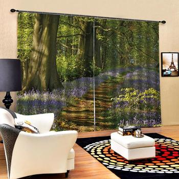 green forest curtains Luxury Blackout 3D Window Curtains For Living Room Bedroom Customized size Drapes Cortinas