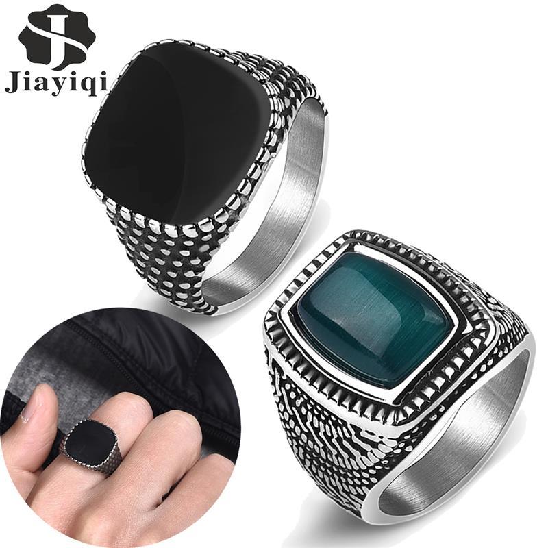 Retro Männer Ring Titan Stahl Einfache Schwarz Punktförmige Geometrische Finger Ringe für Männlichen Mode Wasserdicht Schmuck Geschenk für Ihn