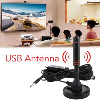 2021 najlepszy kryty przenośny telewizor antena antena HDTV 200 mil 1080P HD TV antena HDTV 22DB wewnętrzna antena cyfrowa antena Booster tanie i dobre opinie FORNORM CN (pochodzenie)